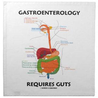 Gastroenterology Requires Guts (Digestive System) Printed Napkin