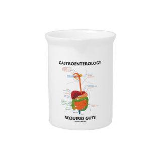 Gastroenterology Requires Guts (Digestive System) Drink Pitcher