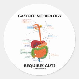 Gastroenterology Requires Guts (Digestive System) Round Sticker