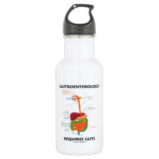 Gastroenterology Requires Guts (Digestive System) Water Bottle
