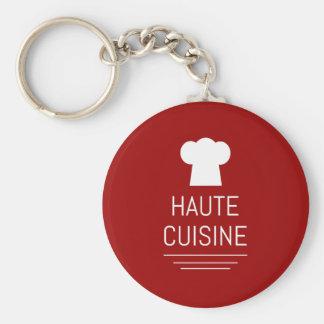 Gastrónomo Foodie de la cocina de Haute del Llavero Redondo Tipo Pin