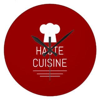 Gastrónomo Foodie de la cocina de Haute del Reloj Redondo Grande