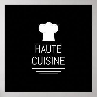 Gastrónomo francés de la cocina de Haute del Póster