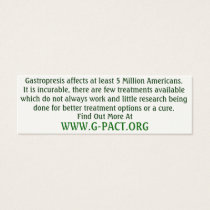 Gastroparesis Awareness Cards