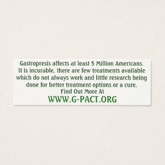 Gastroparesis Awareness Cards