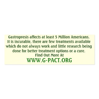 Gastroparesis Awareness Cards Double-Sided Mini Business Cards (Pack Of 20)
