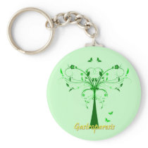 Gastroparesis Awareness Keychain