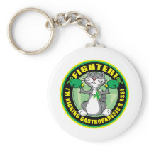 Gastroparesis Boxing Cat Keychain
