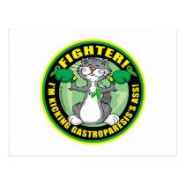 Gastroparesis Boxing Cat Postcard