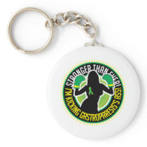 Gastroparesis Boxing Girl Keychain