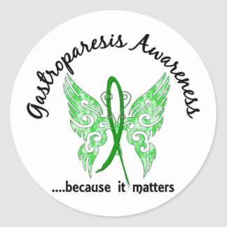 Gastroparesis Butterfly 6.1 Classic Round Sticker