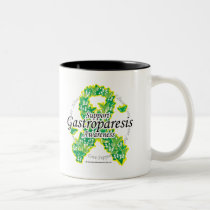 Gastroparesis Butterfly Ribbon Two-Tone Coffee Mug