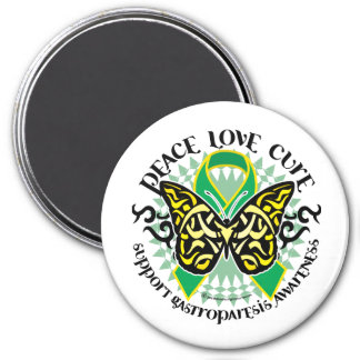 Gastroparesis Butterfly Tribal 2 Magnet
