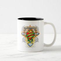 Gastroparesis Cross & Heart Two-Tone Coffee Mug