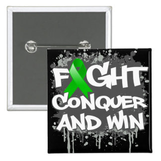Gastroparesis Fight Conquer and Win 2 Inch Square Button