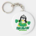 Gastroparesis Fighting Penguin Basic Round Button Keychain