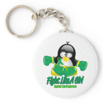 Gastroparesis Fighting Penguin Keychain