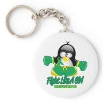 Gastroparesis Fighting Penguin Keychain