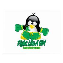Gastroparesis Fighting Penguin Postcard