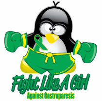 Gastroparesis Fighting Penguin Statuette