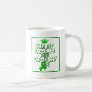 Gastroparesis Keep Calm and Carry ON Classic White Coffee Mug