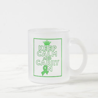 Gastroparesis Keep Calm and Carry ON 10 Oz Frosted Glass Coffee Mug