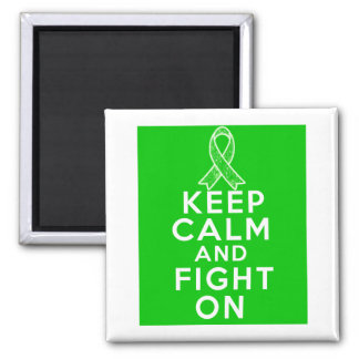 Gastroparesis Keep Calm and Fight On 2 Inch Square Magnet