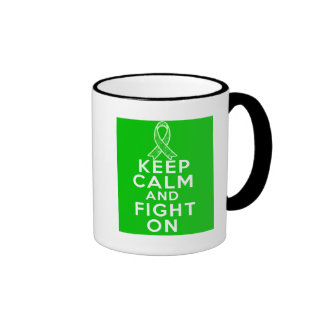 Gastroparesis Keep Calm and Fight On Ringer Coffee Mug