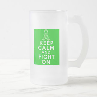 Gastroparesis Keep Calm and Fight On 16 Oz Frosted Glass Beer Mug