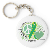 Gastroparesis Peace Love Cure Keychain