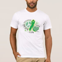 Gastroparesis Peace Love Cure T-Shirt