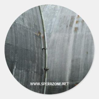 Gaswerk 1 classic round sticker