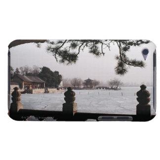 Gate and foliage by frozen lake, China iPod Touch Case
