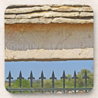 Gate and key stone carved with Montrachet, Coaster