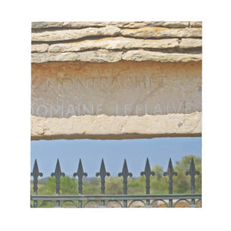 Gate and key stone carved with Montrachet, Note Pads