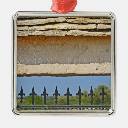 Gate and key stone carved with Montrachet, Ornament