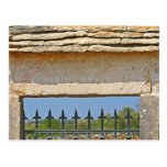 Gate and key stone carved with Montrachet, Post Card