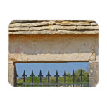 Gate and key stone carved with Montrachet, Rectangular Magnets