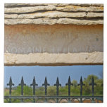 Gate and key stone carved with Montrachet, Tiles