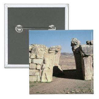 Gate del rey de las paredes de Hattusas Pin Cuadrado