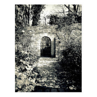 Gate in the wall postcard