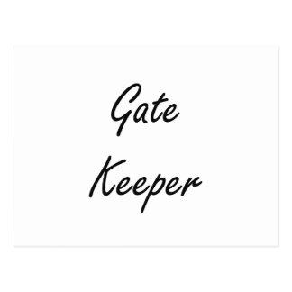 Gate Keeper Artistic Job Design Postcard