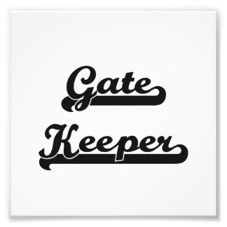 Gate Keeper Classic Job Design Photo Print