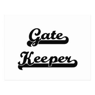 Gate Keeper Classic Job Design Postcard