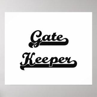 Gate Keeper Classic Job Design Poster