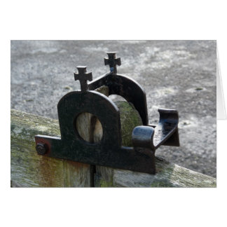"""Gate Latch at the Abbey"" Northumberland, England Card"