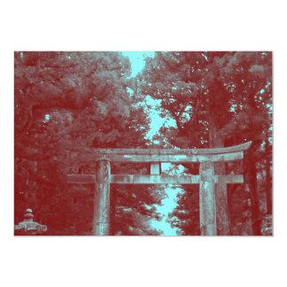 "Gate leading to Temple 5"" X 7"" Invitation Card"