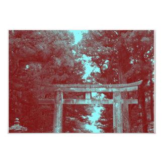 "Gate leading to Temple 3.5"" X 5"" Invitation Card"