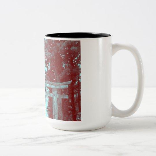 Gate leading to Temple Two-Tone Coffee Mug