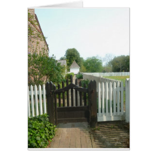 Gate leading to walkway in Colonial Williamsburg Card
